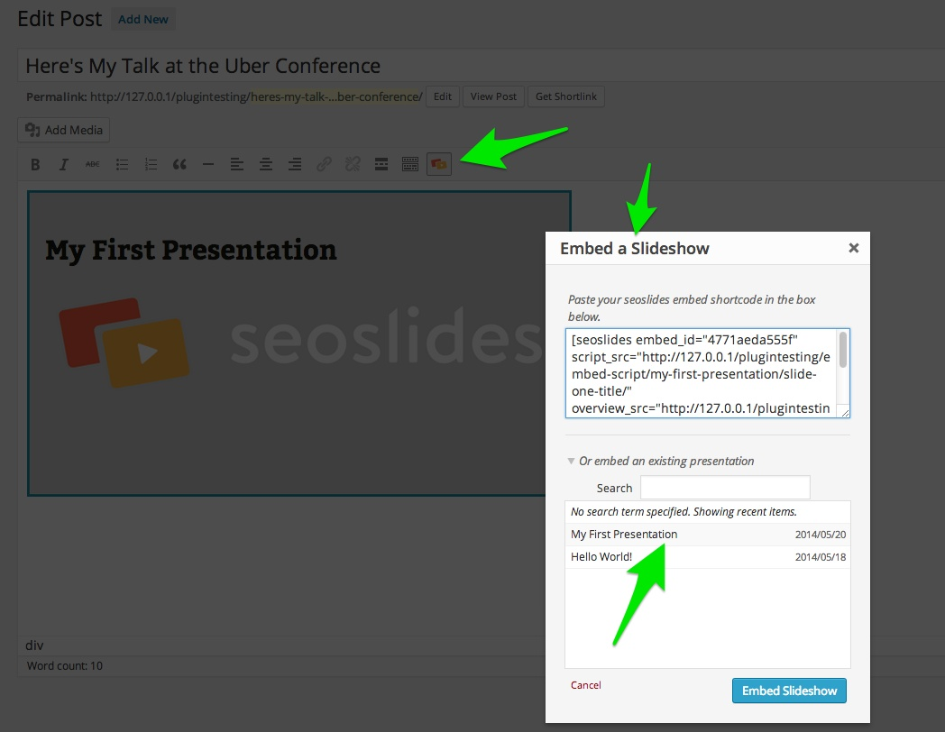 Embed a Slide Presentation in WordPress