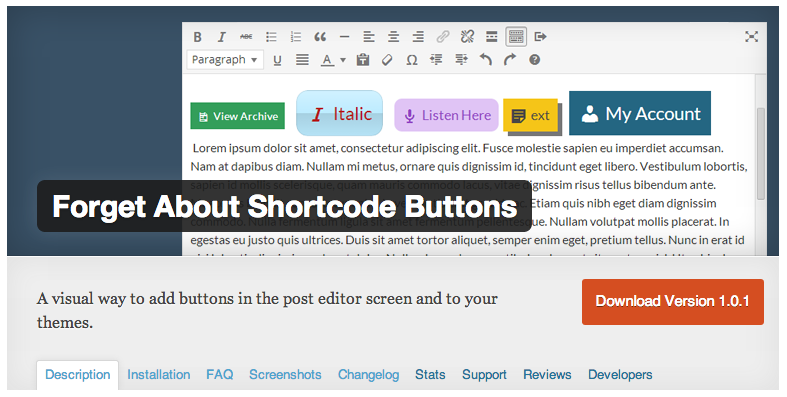 WordPress Buttons Plugin