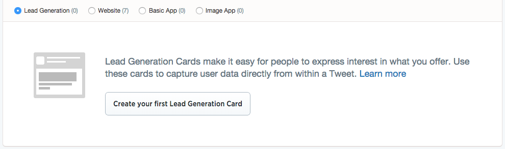 Twitter Card Types
