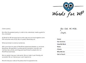 Words For WordPress