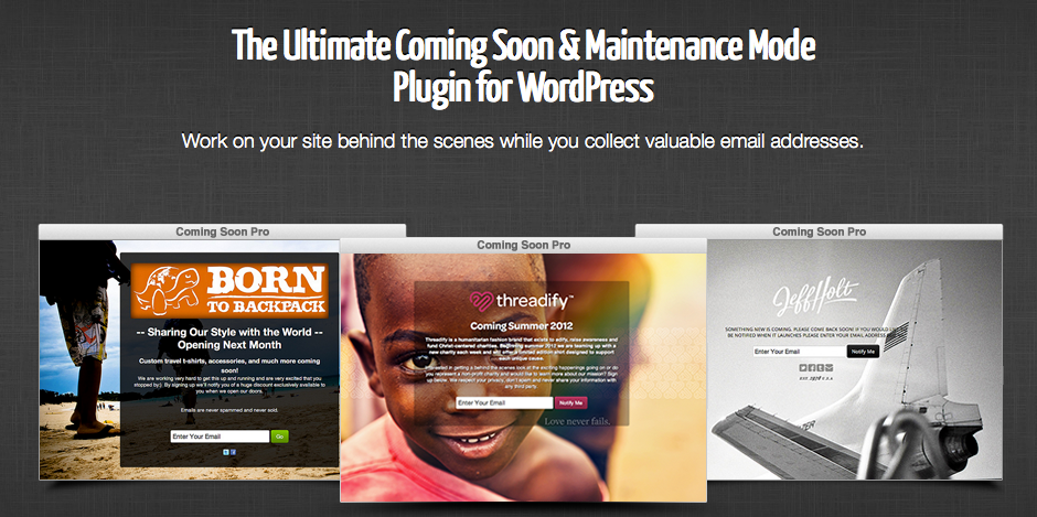coming soon and WordPress maintenance mode plugin