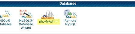 the phpMyAdmin icon in CPanel