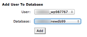 a screenshot of the form for adding a user to a MySQL database