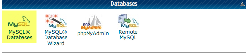 a screenshot of the MySQL icon in CPanel