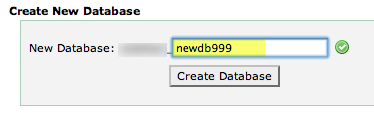 a screenshot of the form for adding a new database
