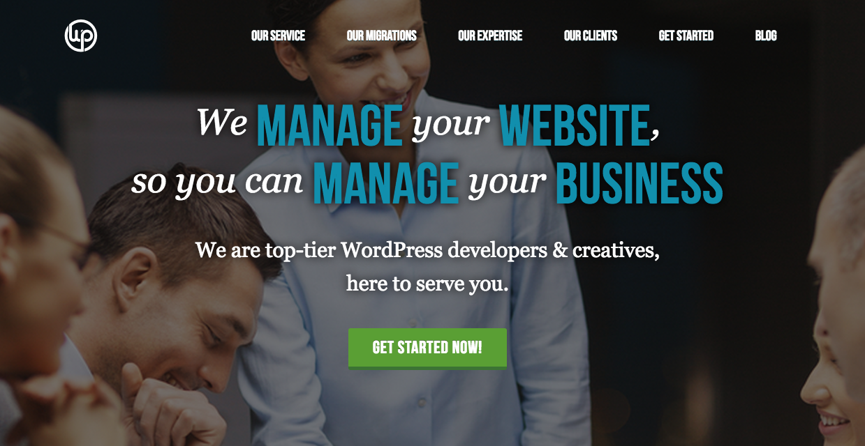 WordPress business website service, maintenance, and migrations.