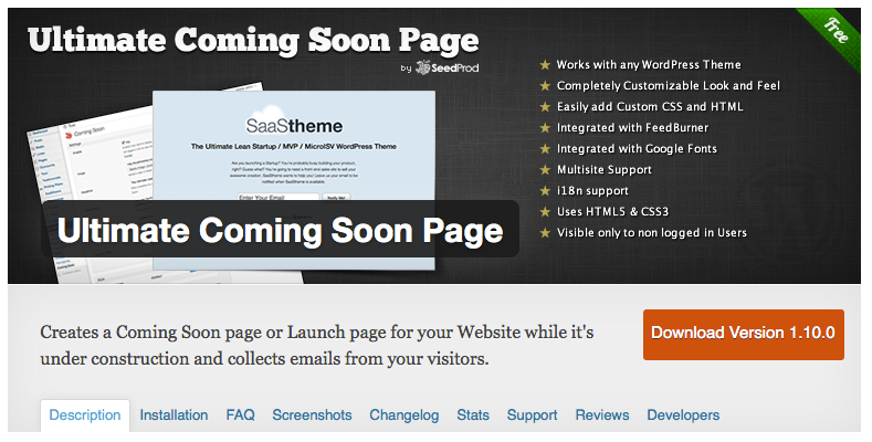 Ultimate Coming Soon Page WordPress Maintenance Mode Plugin