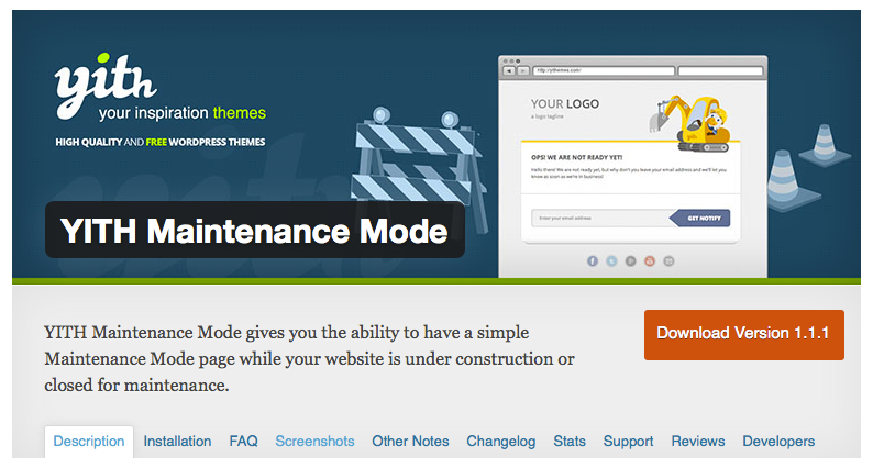 YITH WordPress Maintenance Mode Plugin