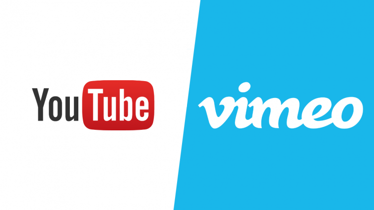 YouTube and Vimeo Logos